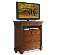 Windward Bay Media Chest Warm Rum finish Product Image