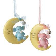 """""""Welcome Little One"""" Moon Ornament (2 asstd)"""