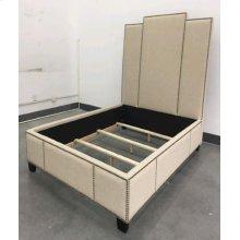 Lawndale Beige Upholstered Queen Bed