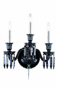 8903 Majestic Collection Wall Sconce Black Finish (Elegant Cut Jet Black)