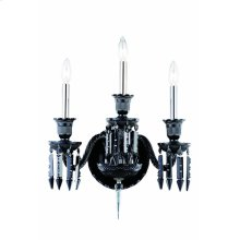 8903 Majestic Collection Wall Sconce Black Finish (Elegant Cut Jet Black)
