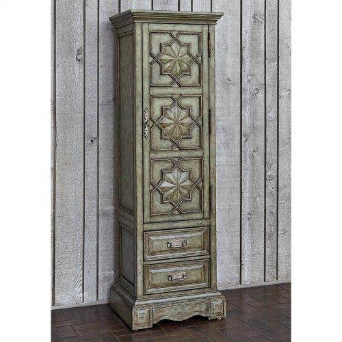 Medallion Single Door Cabinet - Ant Blue