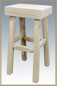 Homestead Half Log Barstool