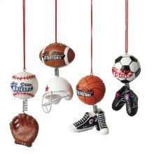 Sport Ball with Dangle Ornament (4 asstd).