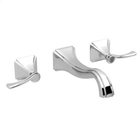 Uncoated-Polished-Brass-Living Wall Mount Lavatory Faucet