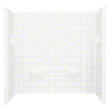 "Advantage™ 60, Series 6204, 35-1/4"" x 60"" Tile Seated Shower - Wall Set - White"