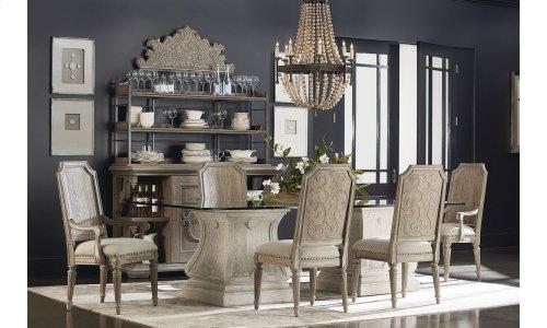 Arch Salvage Mills Arm Chair - Cirrus