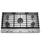 """KitchenAid® 36"""" 5-Burner Gas Cooktop - Stainless Steel Product Image"""