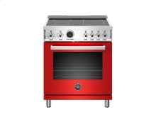 30 inch Induction Range, 4 Heating Zones, Electric Self-Clean Oven Red