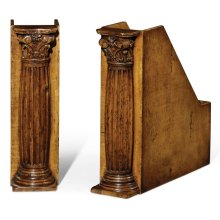 Pair of Corinthian Column Box File Bookends