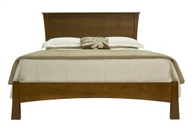 Clarington Low Profile Bed, Solid Wood Panel & Wood Rails
