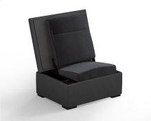 JumpSeat Ottoman, Charcoal Cover / Slate Seat