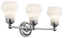 Currituck 3 Light Vanity Light Chrome