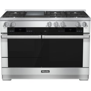 MieleHR 1956-2 G - 48 inch range Dual Fuel with M Touch controls, Moisture Plus and M Pro dual stacked burners