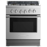 "Fisher & PaykelDual Fuel Range 30"", 4 Burners"