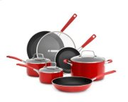 Aluminum Nonstick 10-Piece Set - Empire Red Product Image