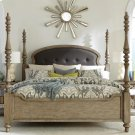Corinne - Full/queen Upholstered Poster Headboard - Sun-drenched Acacia Finish Product Image