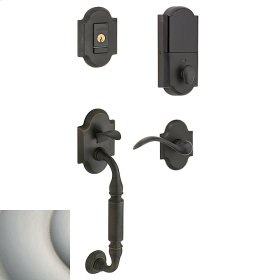Satin Nickel Evolved Canterbury Lever Sectional Handleset