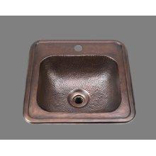 B1012 - Bar Sink - Hammertone Pattern - Antique Brass