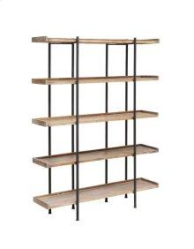 Wingate Rustic Wood and Metal 4 Shelf Etagere