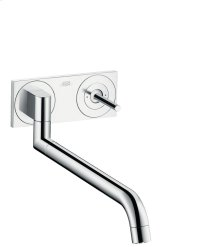 Brushed Gold Optic Single lever kitchen mixer for concealed installation wall-mounted