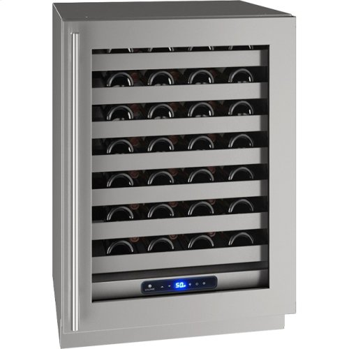 "5 Class 24"" Wine Captain® Model With Stainless Frame Finish and Field Reversible Door Swing (115 Volts / 60 Hz)"