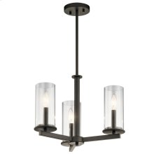 Crosby Collection Crosby 3 Light Chandelier/Semi Flush OZ