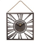 Square Wall Clock with Rope Hanger. Product Image