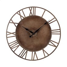 METAL ROMAN NUMERAL OUTDOOR WALL CLOCK.
