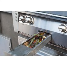 "56"" Sear Zone Grill with Side Burner Cart"