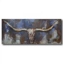 Longhorn 47x20 Metal Art