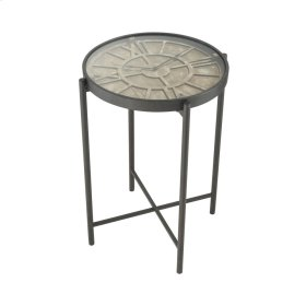Marylebone Bronze with Burnt Oak Wood and Metal Accent Table