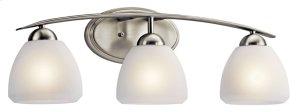 Calleigh 3 Light Vanity Light Brushed Nickel