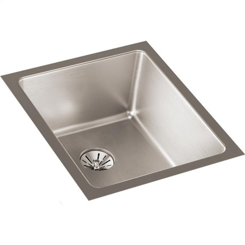 """Elkay Lustertone Iconix Stainless Steel 16"""" x 18-1/2"""" x 8"""", Single Bowl Undermount Sink with Perfect Drain"""