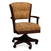 Venture Arm Desk Chair, Leather Cushion Seat Product Image