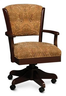 Venture Arm Desk Chair, Leather Cushion Seat
