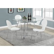 """DINING TABLE - 40""""DIA CHROME WITH 8MM TEMPERED GLASS"""