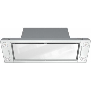 MieleDA 2698 Insert ventilation hood with energy-efficient LED lighting and backlit controls for easy use.