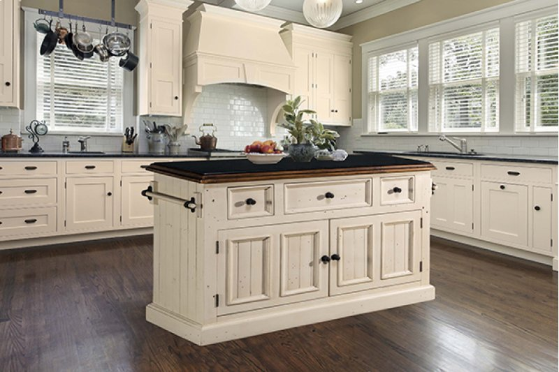 Hidden · Additional Tuscan Retreat® 3 Drawer 4 Door Large Granite Top  Kitchen Island - Country White - 5465916W In By Hillsdale Furniture In Ivor, VA - Tuscan Retreat® 3
