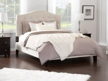Naples Upholstered Bed Queen in Pebble Beach
