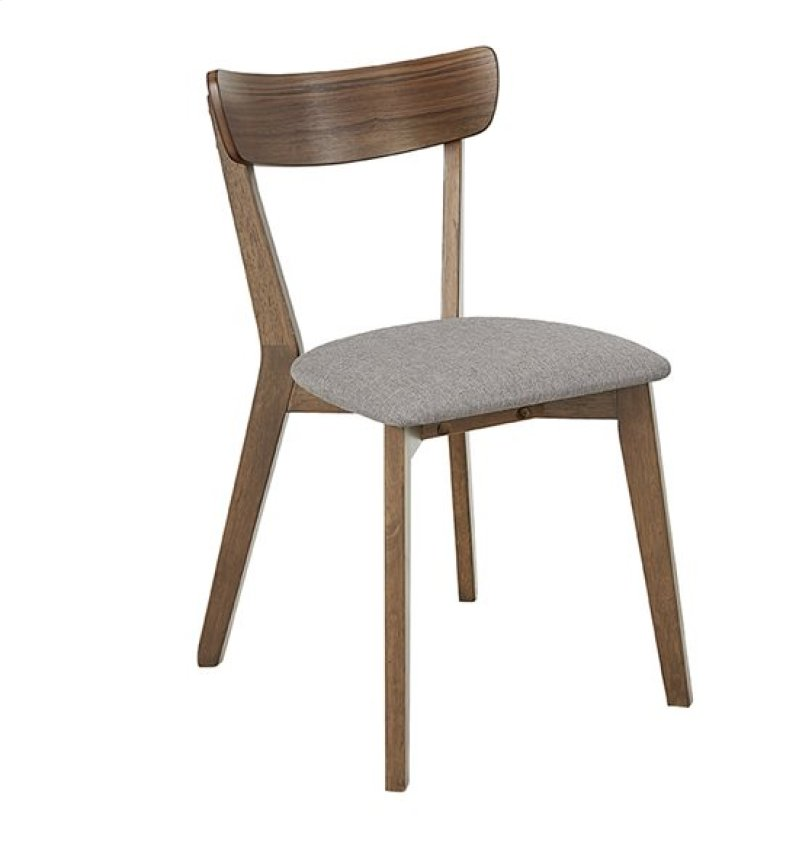 Dining Chair 2 Ctn Walnut Finish