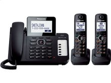 Expandable Corded/Cordless Phone with 1 Corded Handset and 2 Cordless Handsets