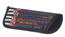 Multi Color Inspiring Text Reading Glass Case