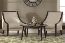 San Marino Round Coffee Table - Brushed Brown
