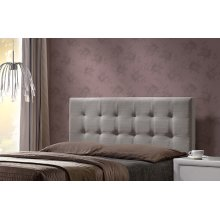 Duggan Headboard Queen - Headboard Frame Included - Light Linen Gray