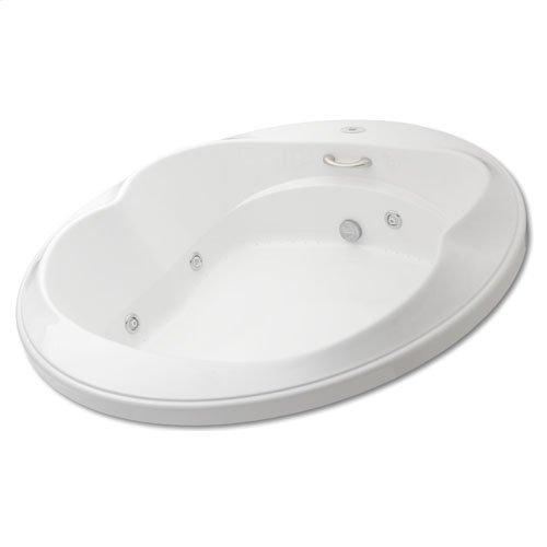"Easy-Clean High Gloss Acrylic Surface, Circle, Whirlpool Bathtub, Standard Package, 72"" X 72"""