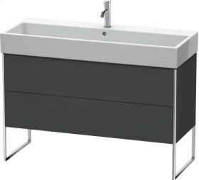 Vanity Unit Floorstanding, Graphite Matt (decor)