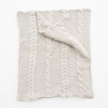 Classic Knit Throw - Taupe