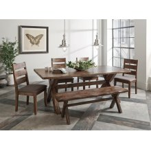 Alston Rustic Wavy Edge Five-piece Dining Set
