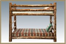 Glacier Country Log Twin Bunkbed
